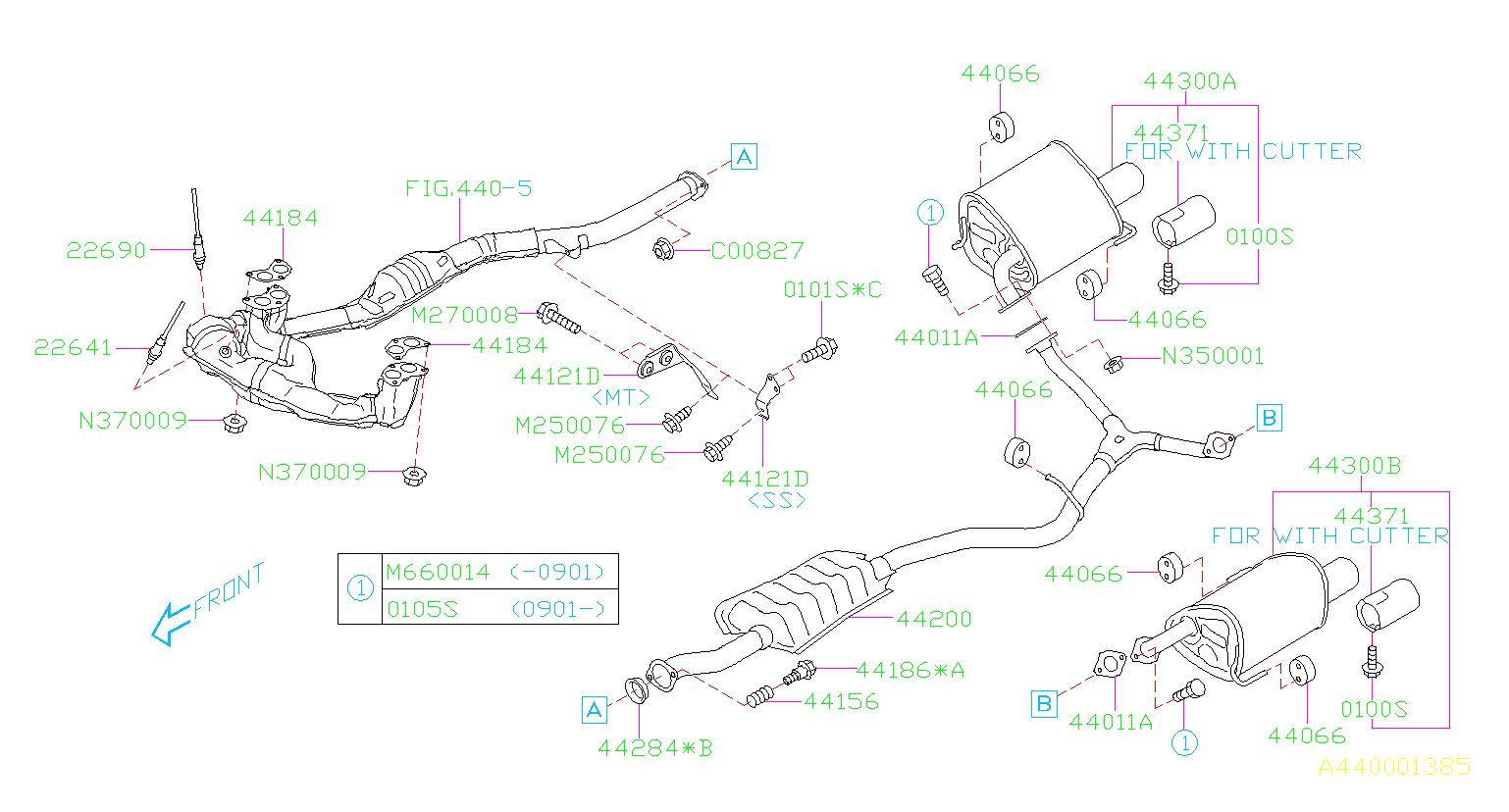 2010 Subaru Impreza Bracket Exhaust Pipe Hanger  No 2  No