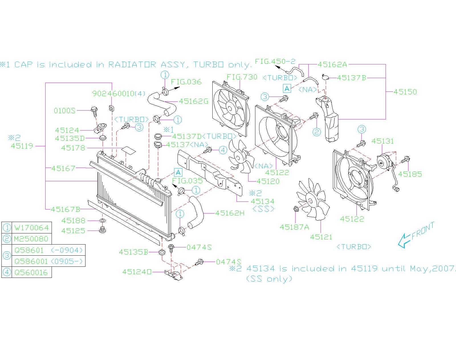 2012 Subaru STI Radiator Drain Plug. Air Plug Radiator ...