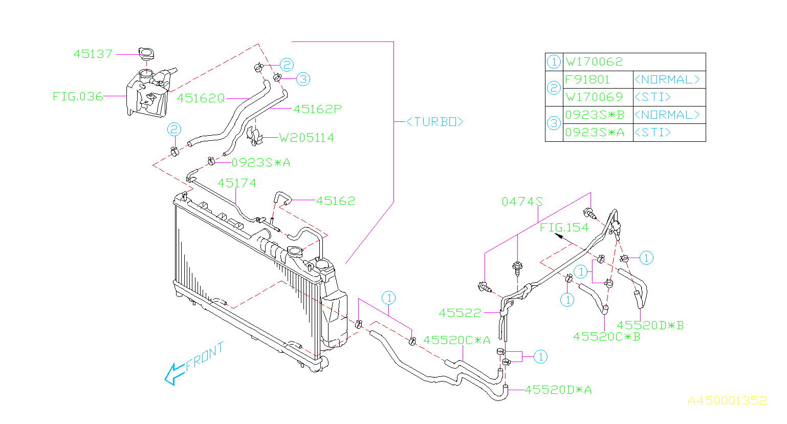 45520ag030 - Automatic Transmission Oil Cooler Hose  Hose Atf  Make  Maintenance  Line