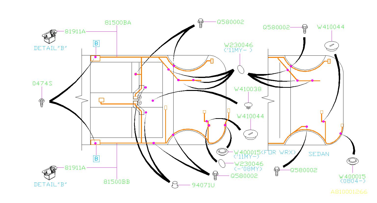 909400015 - Plug D30  Rear  Main  Harness