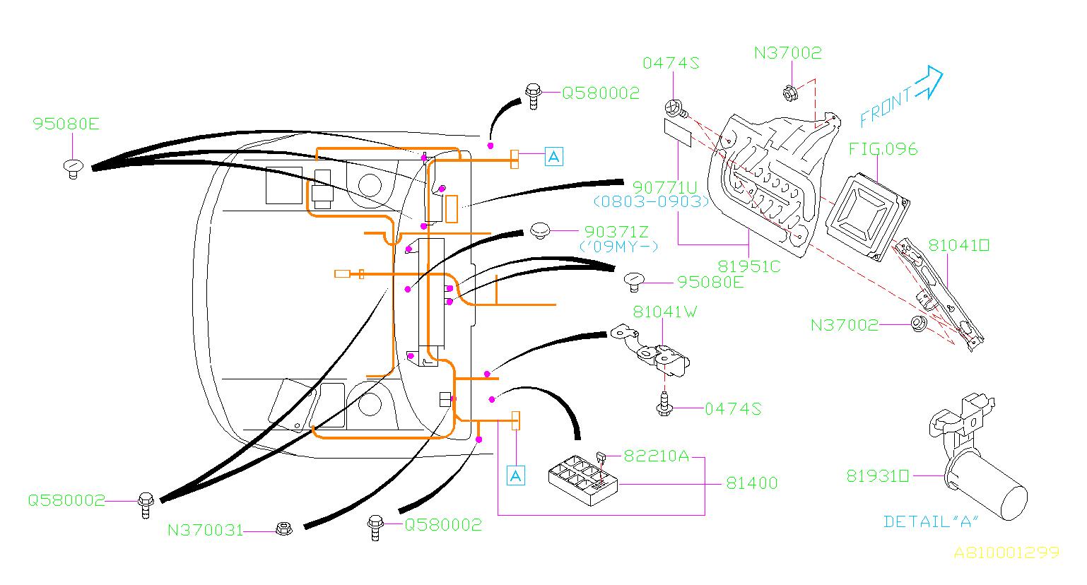 2010 Subaru Wrx Cover  Wiring  Main  Harness  Electrical