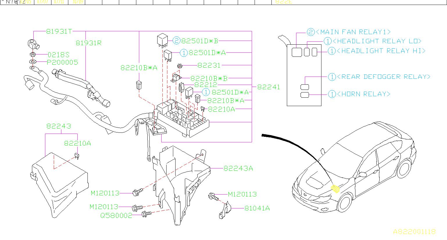 82211fc160 fuse main box harness front genuine. Black Bedroom Furniture Sets. Home Design Ideas