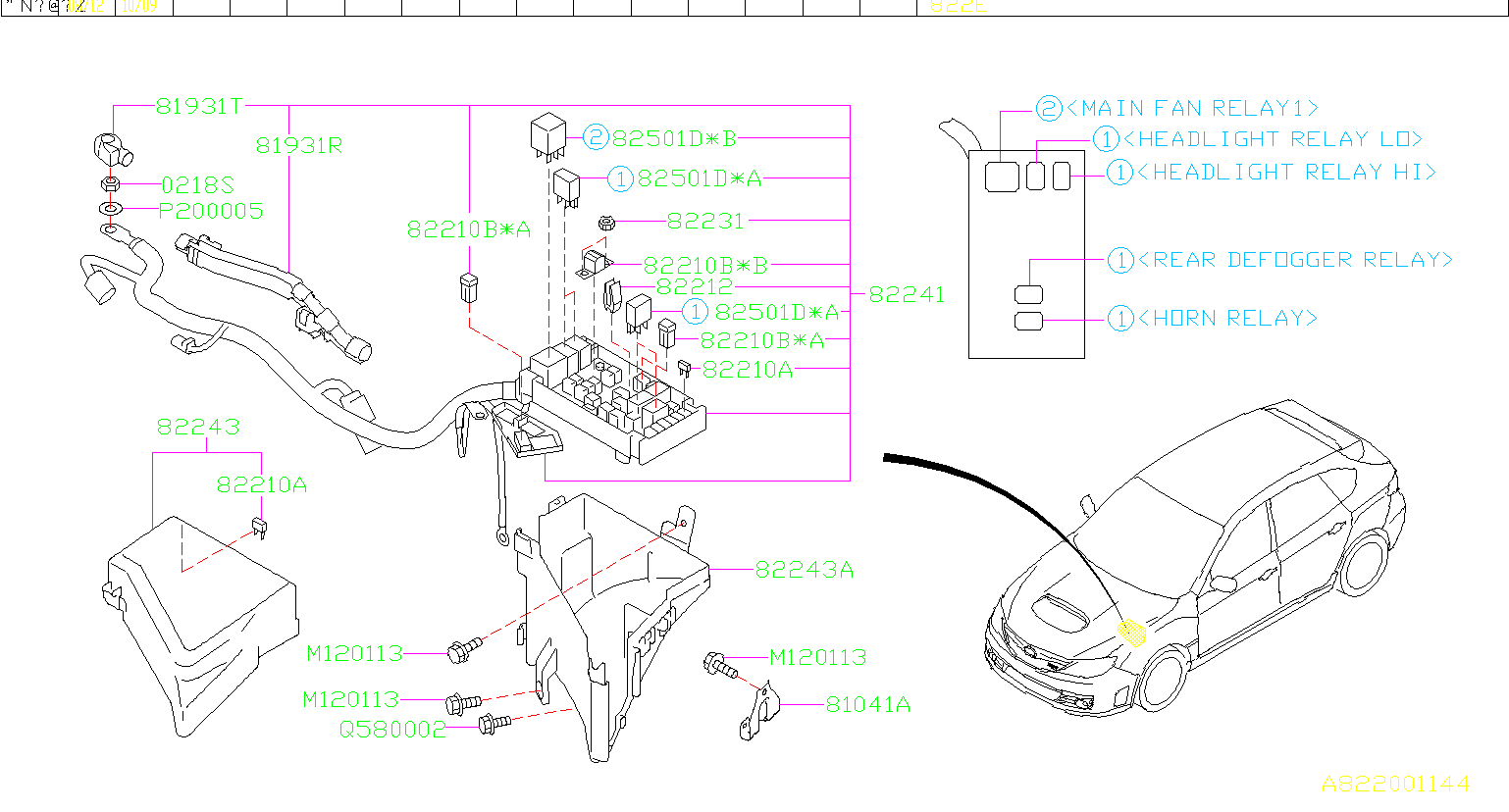 82211fc160 - Fuse-main  Box  Harness  Front
