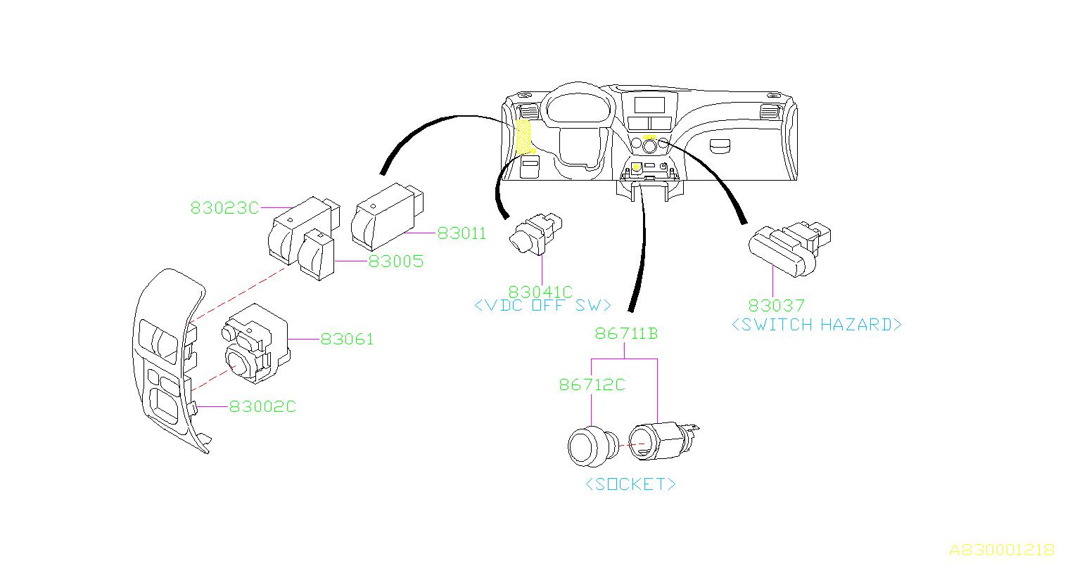 83002aj000 - illumination control switch  panel  instrumentpanel  instrument