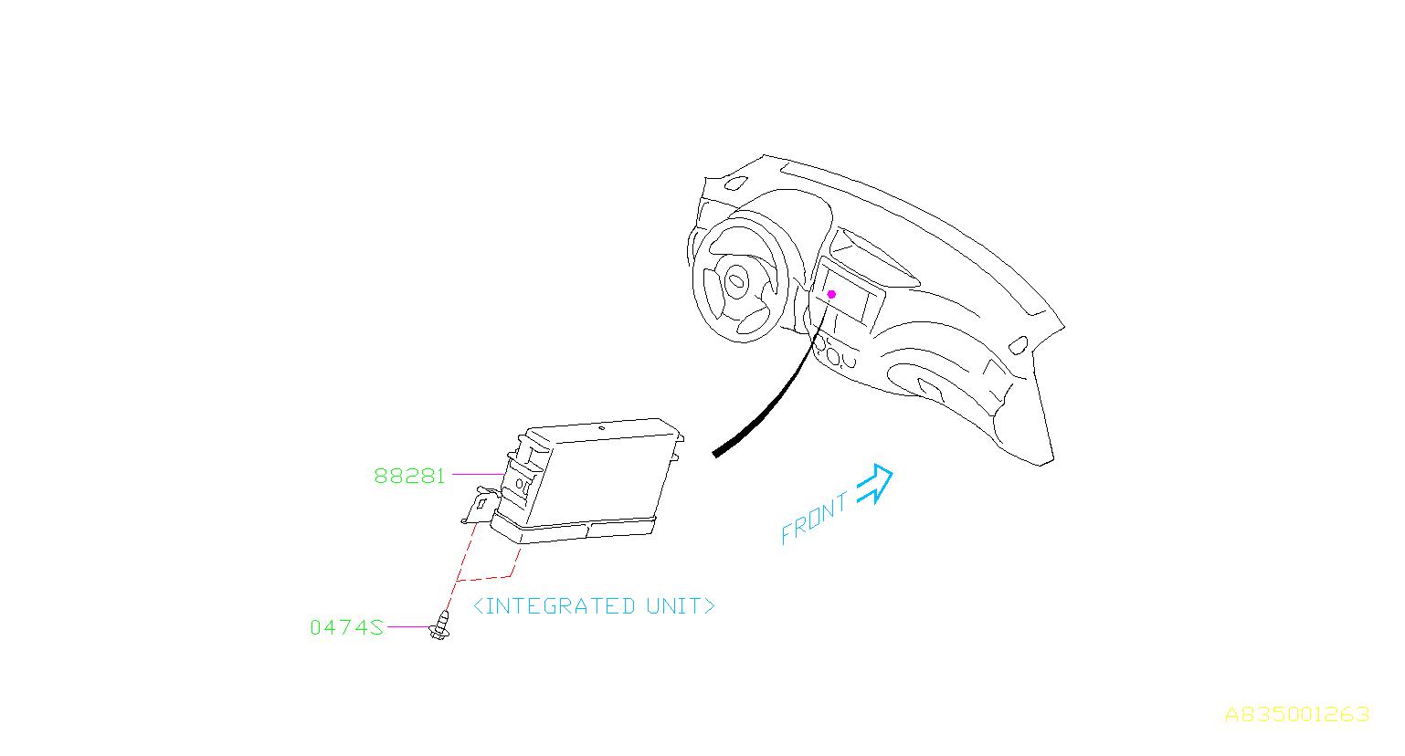 Subaru Impreza Integrated unit. Electrical, body ...