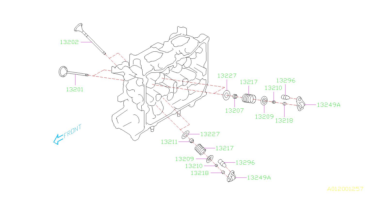 2013 Subaru Impreza Engine Valve Spring Retainer ...