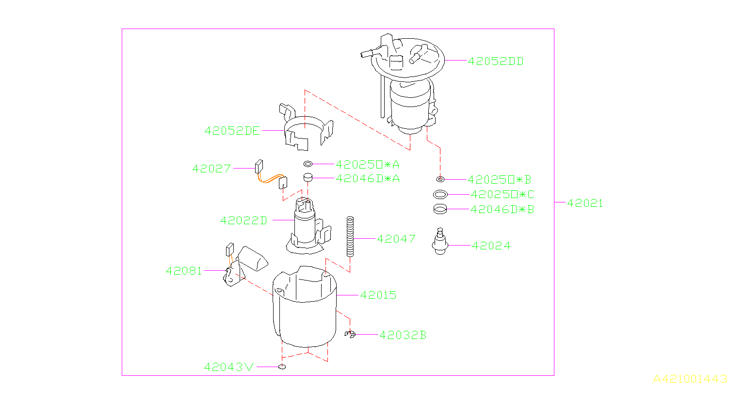 2014 Subaru Impreza Electric Fuel Pump. TANK, System ...