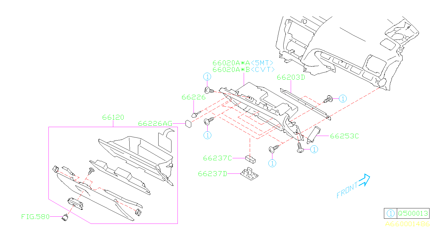66237sa010 - Glove Box Light  Umber   Panel  Instrument  Bulb