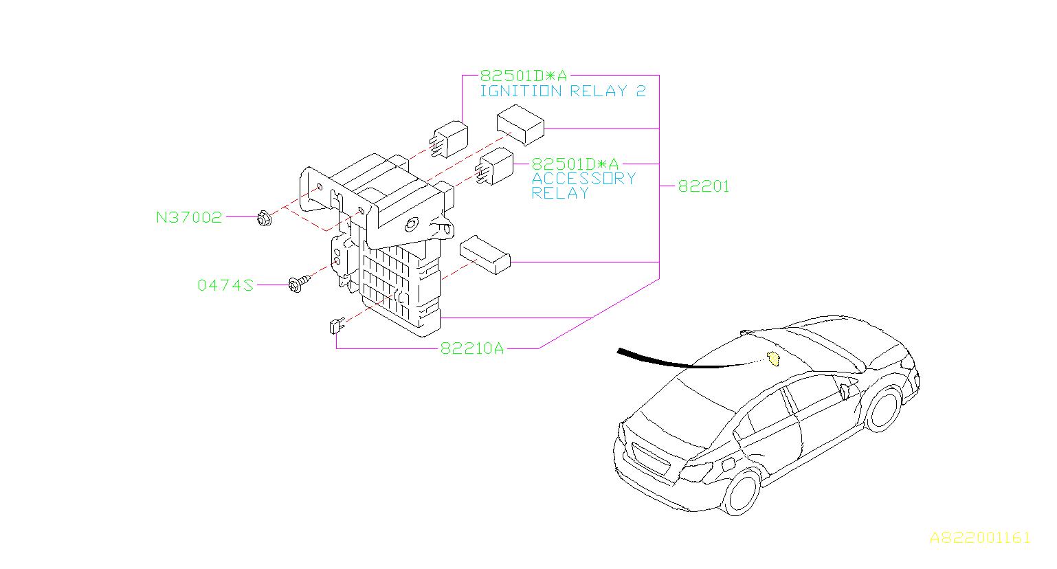 2015 Subaru Legacy Accessory Power Relay. BOX, FUSE, MAIN ...