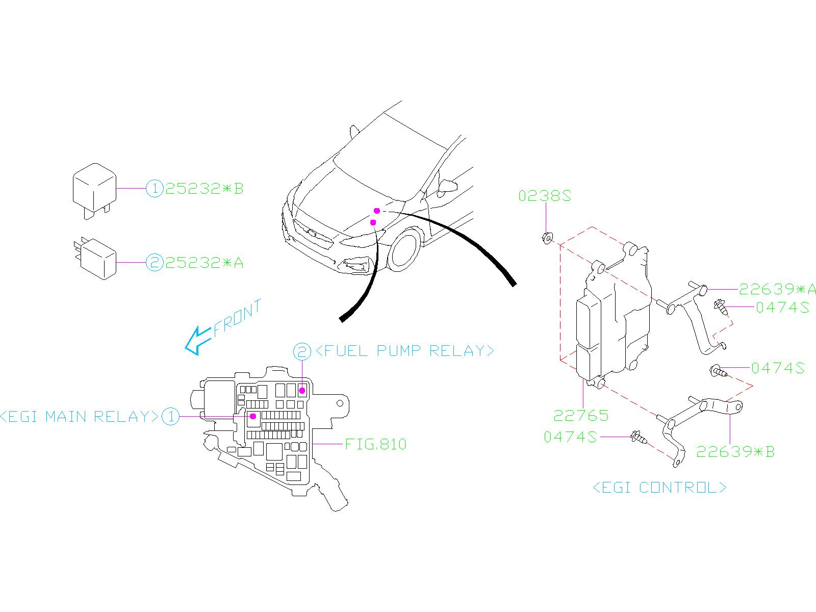 2015 subaru outback limited 2 5l cvt relay  sensor  engine