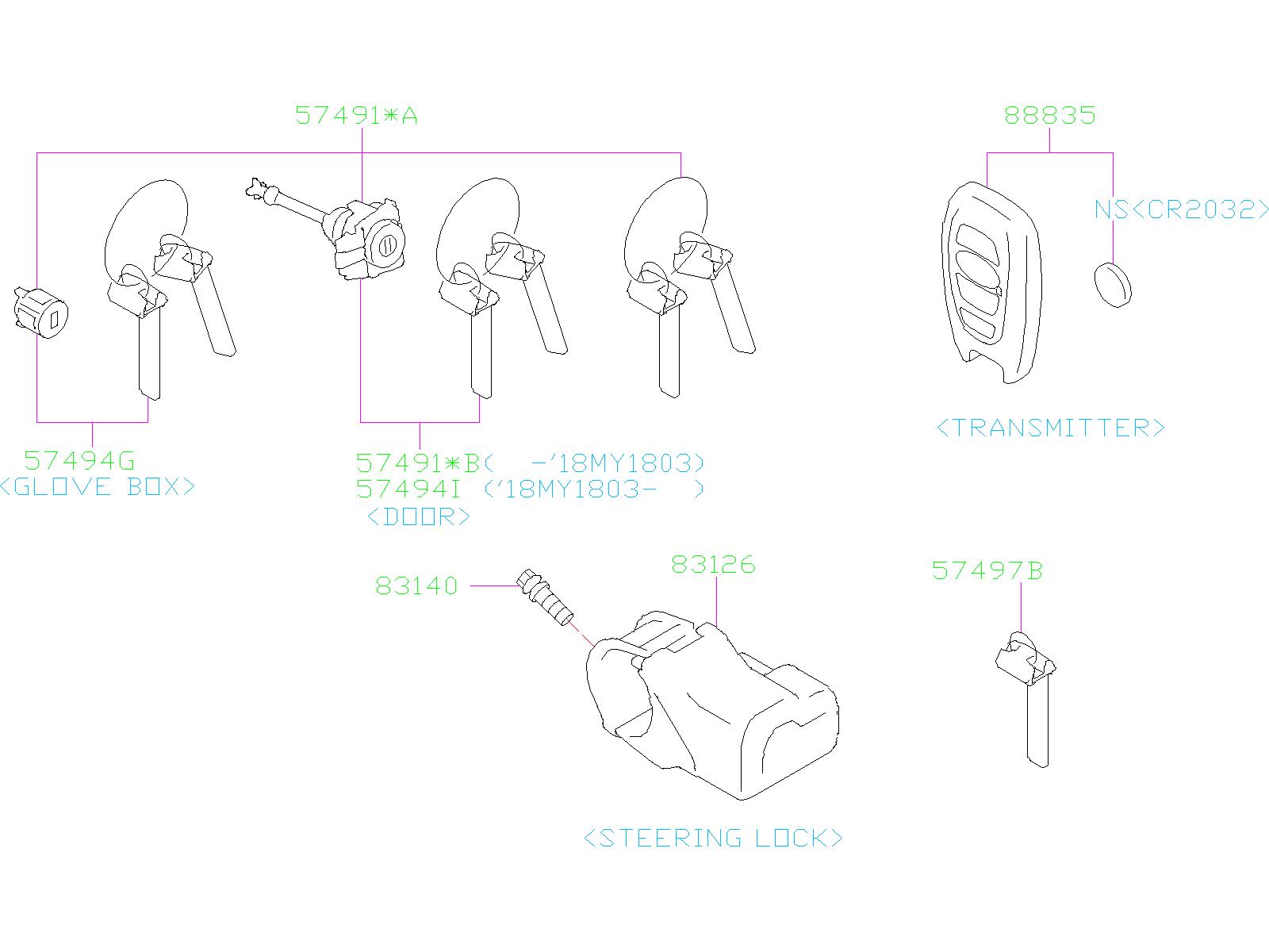 57497al02a - Key Plate  Kit