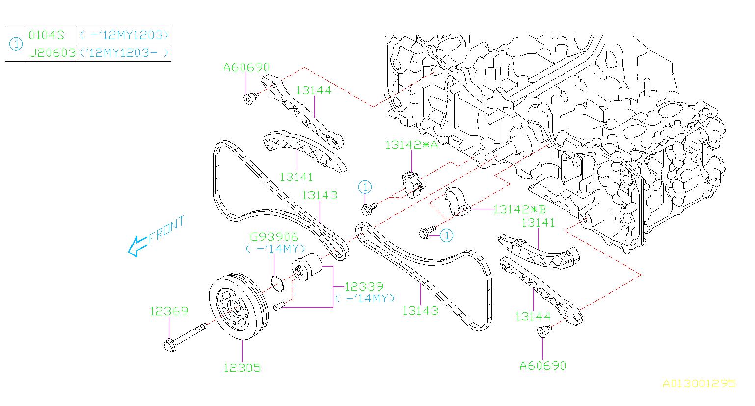 2015 Subaru Impreza 2 0l Cvt 4wd Sport Wagon Engine Timing