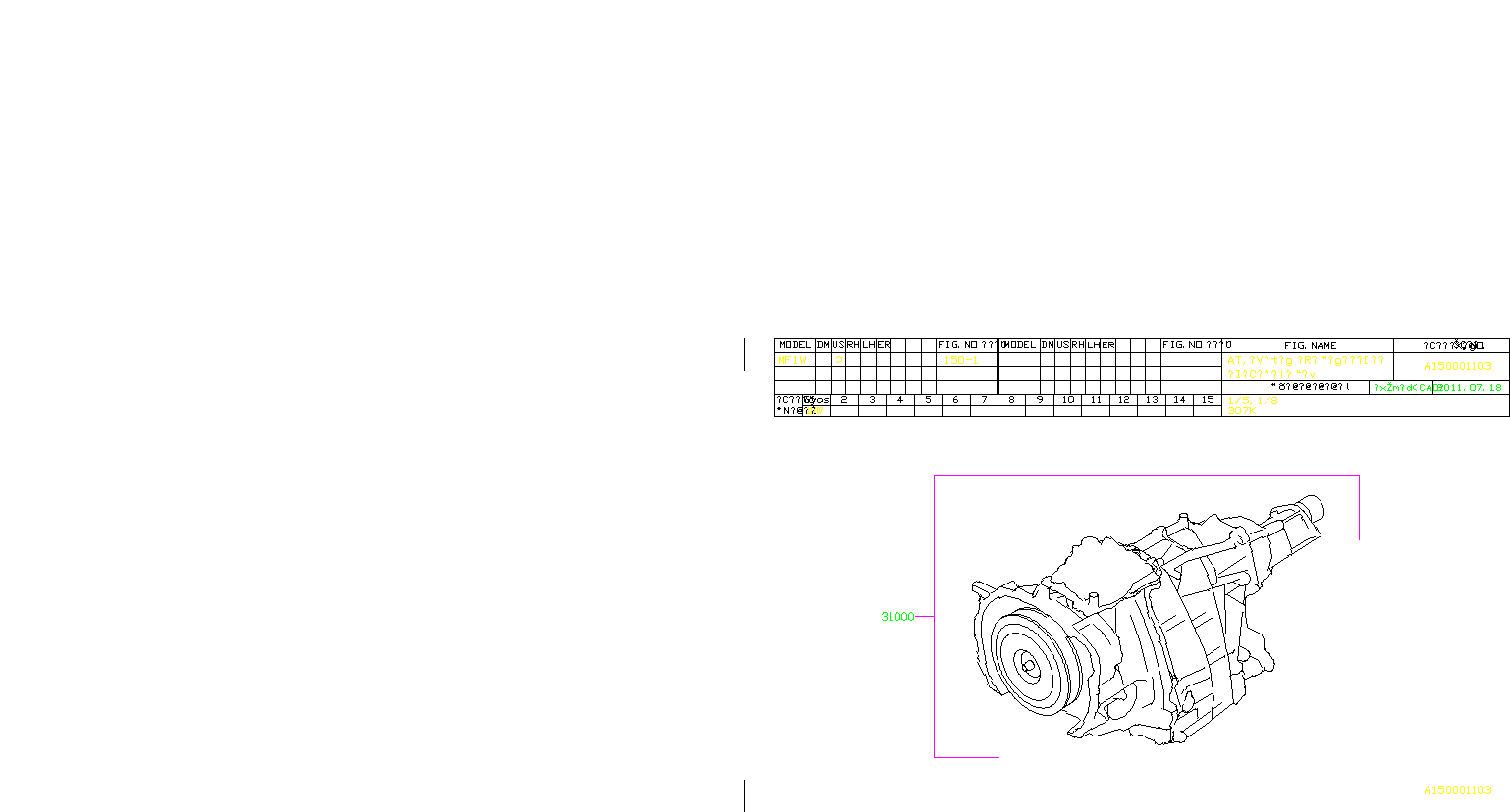 31000aj040 automatic transmission assembly assy. Black Bedroom Furniture Sets. Home Design Ideas