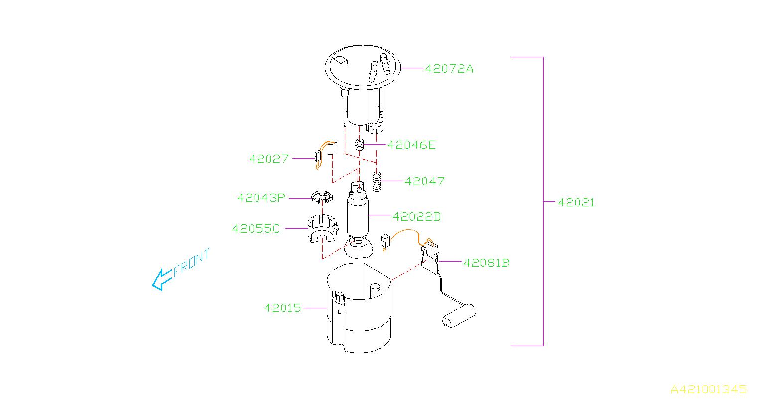 2014 subaru impreza pump assembly fuel tank system. Black Bedroom Furniture Sets. Home Design Ideas