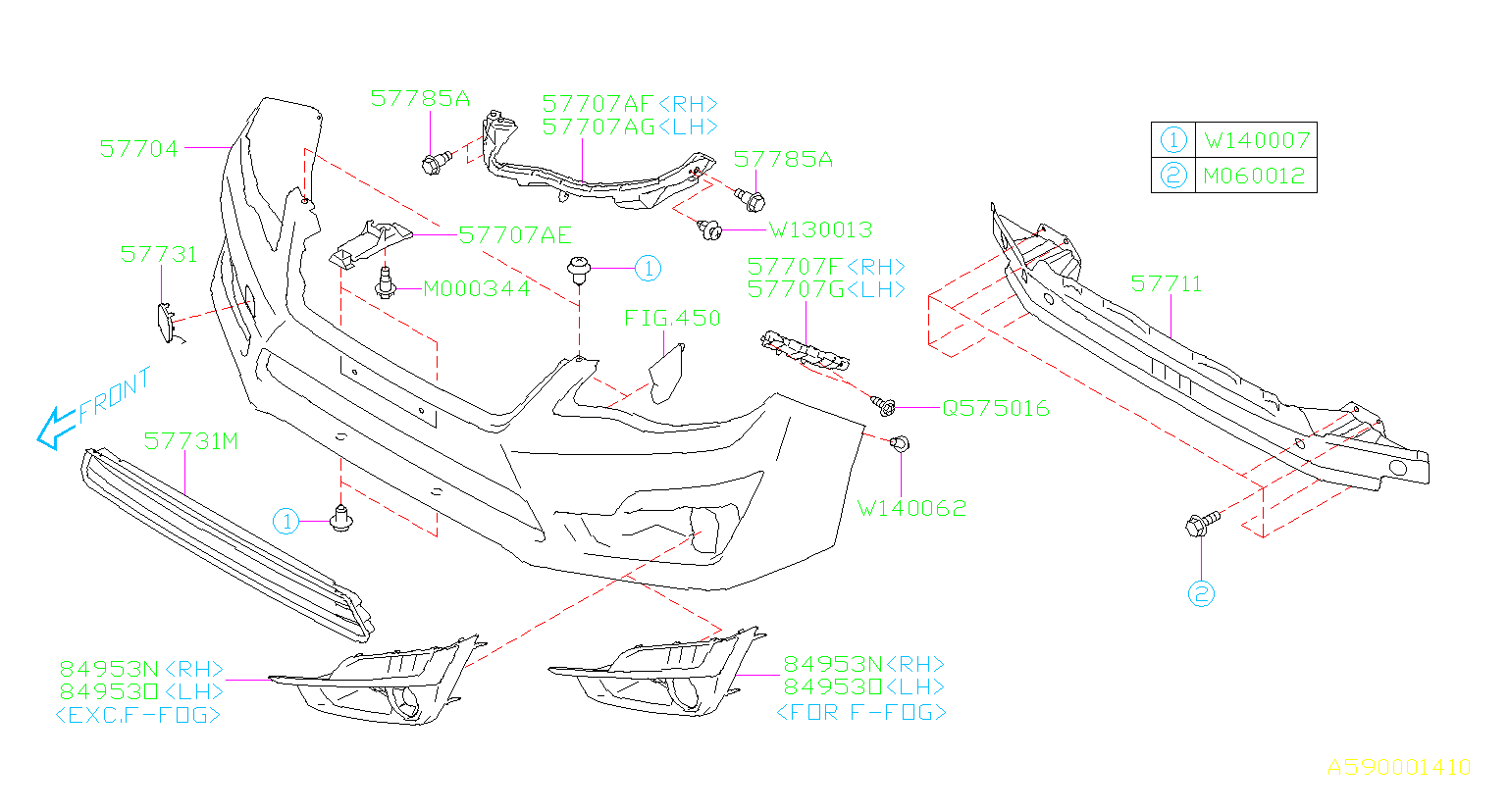 Diagram FRONT BUMPER. '15MY-. for your Subaru