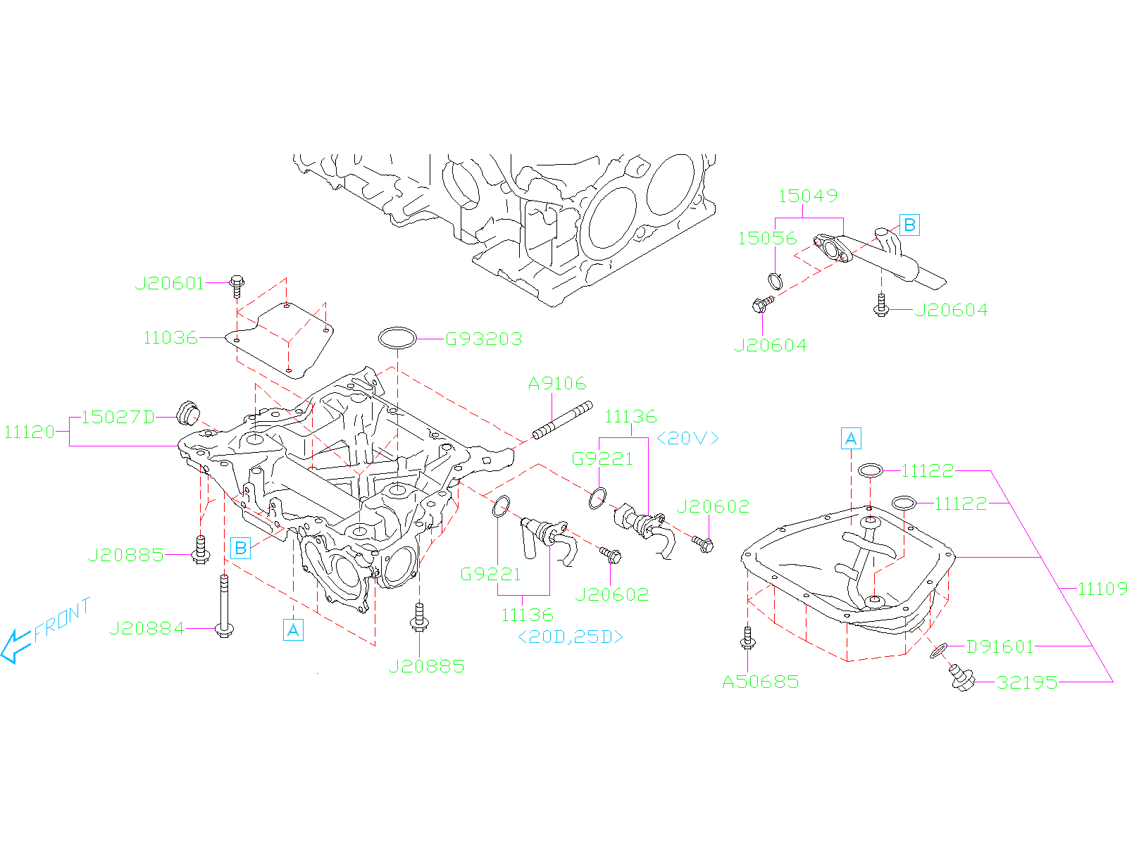 Diagram OIL PAN. for your Subaru