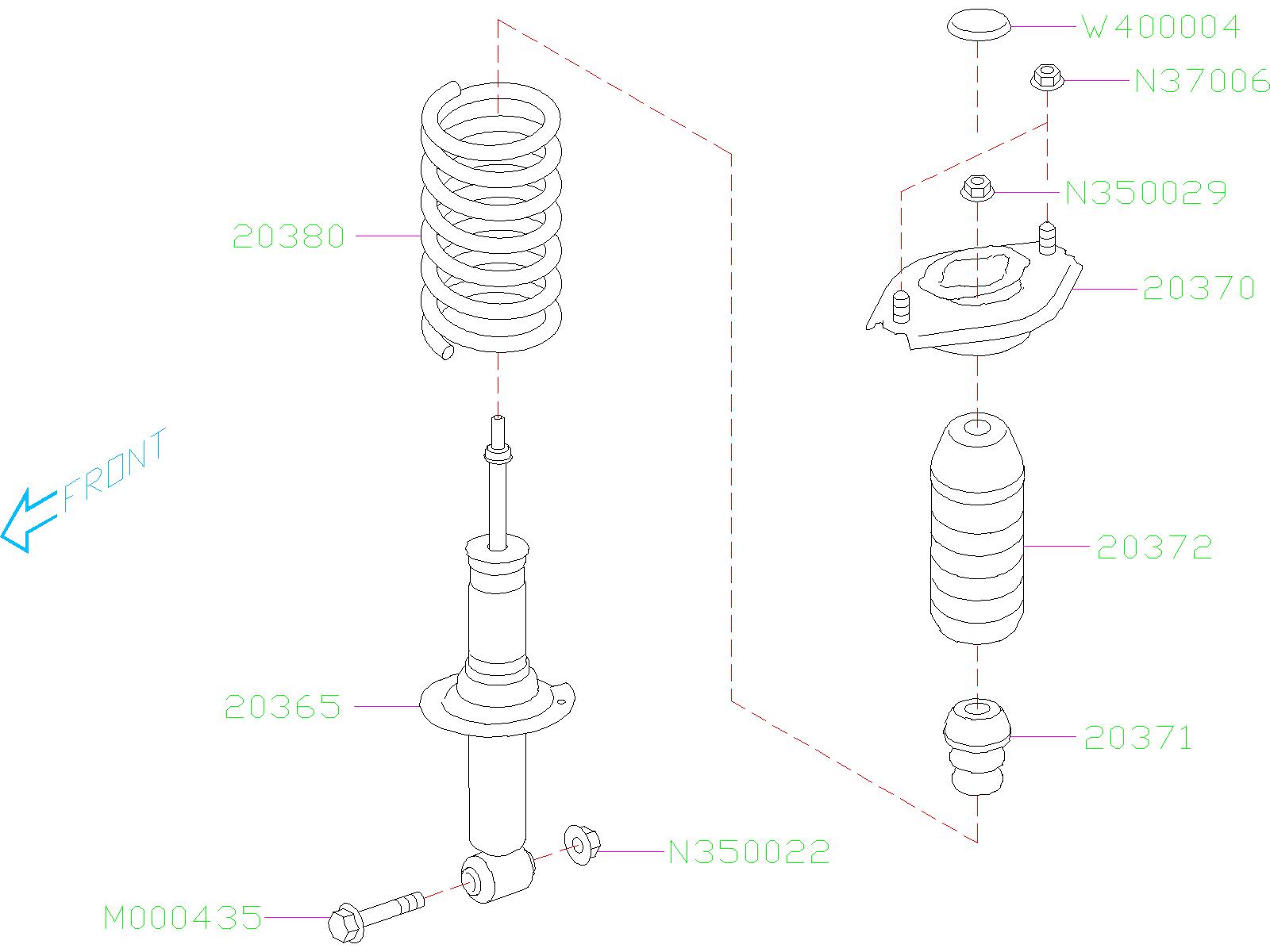 20365fl100 shock absorber rear struts suspension. Black Bedroom Furniture Sets. Home Design Ideas