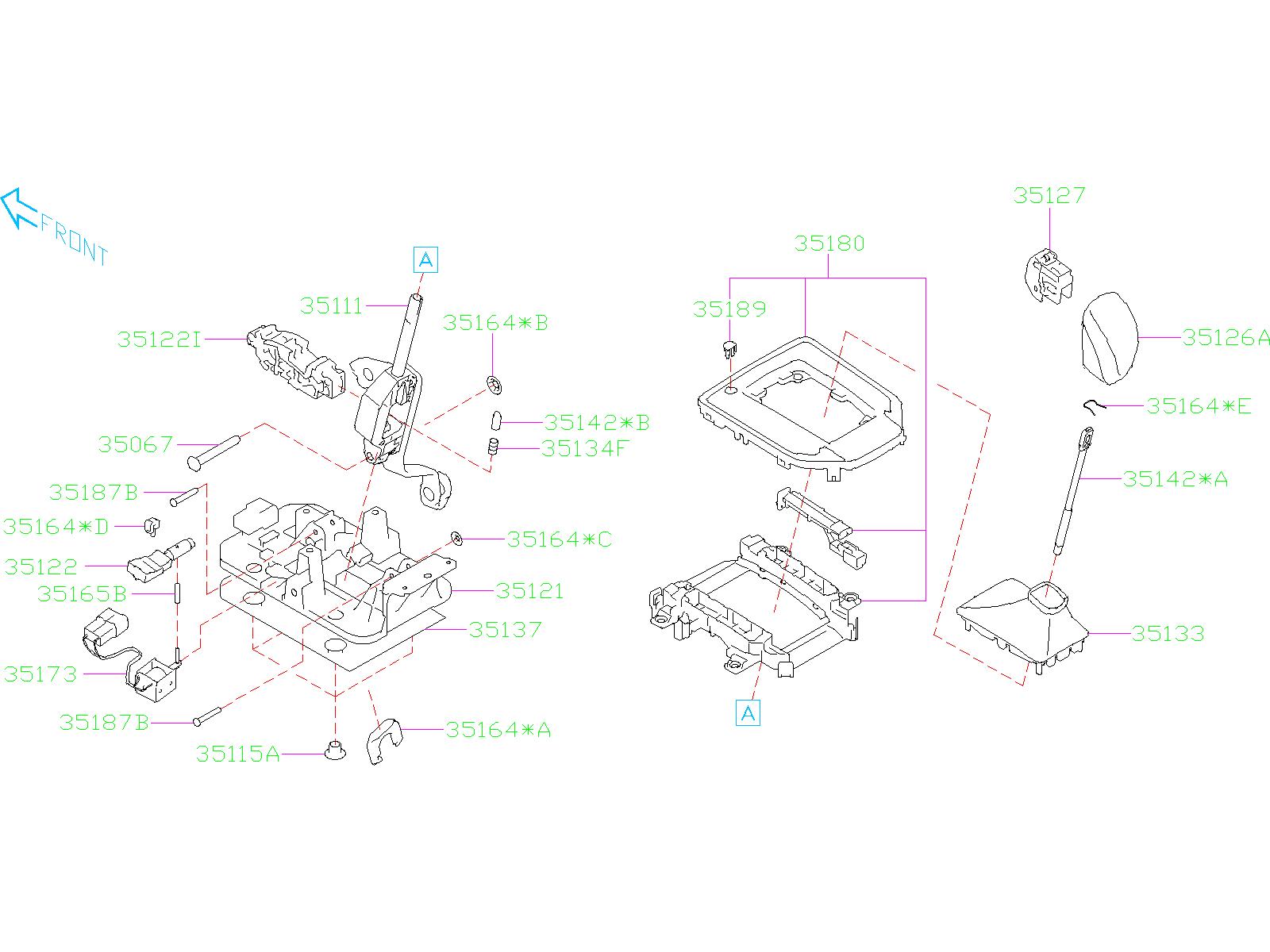 2018 Subaru Crosstrek Plate Guide B. SHIFT, SELECTOR ...