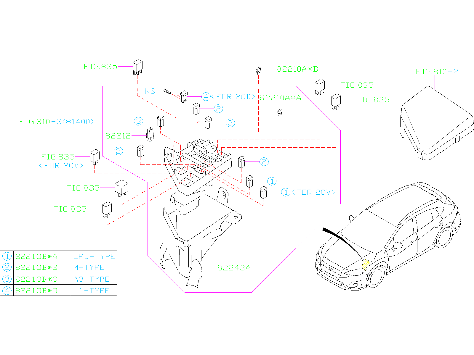 82211al120 - Fuse-main  Harness  Wiring