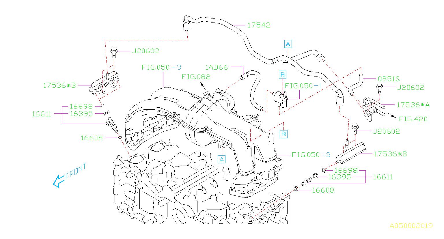 99071ad660 - Hose Vacuum  Fuel  Intake  Injector