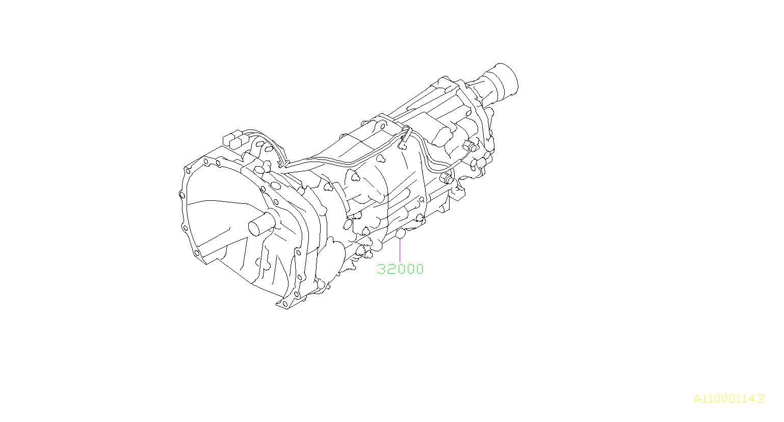 2014 subaru crosstrek manual transmission assembly assy 32000ak280 genuine subaru part. Black Bedroom Furniture Sets. Home Design Ideas
