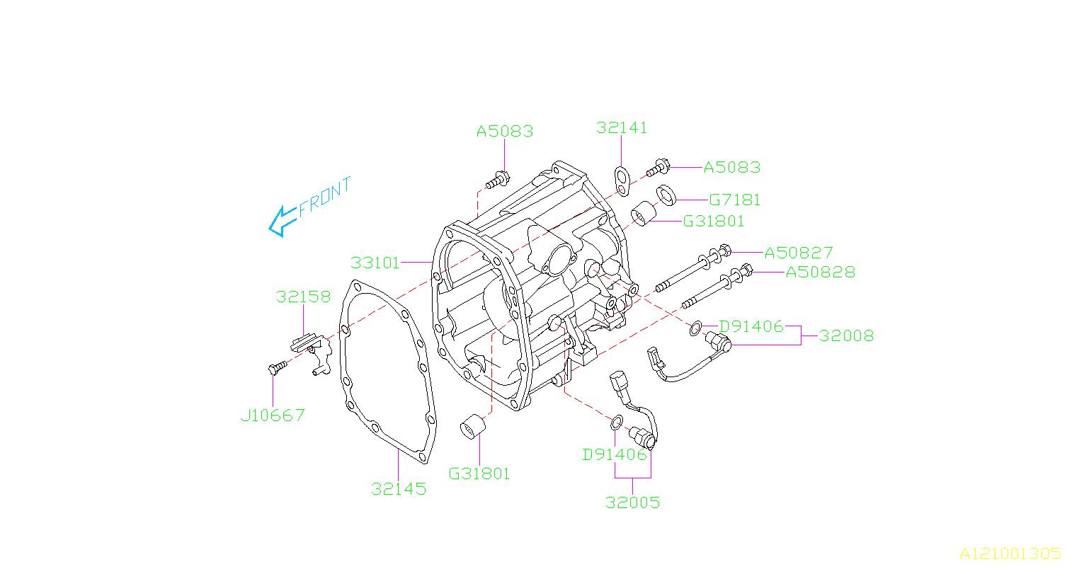 2017 Subaru Crosstrek Guide Oil Case   Rear   Transfer  Extension  Transmission  Tranfer  Manual