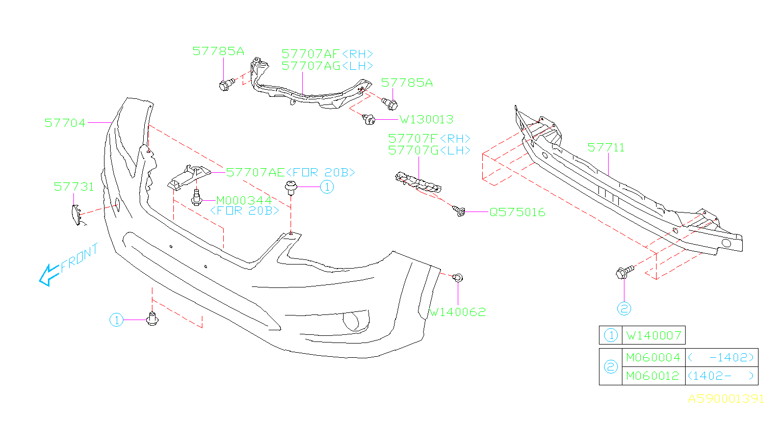 Diagram FRONT BUMPER. '13MY-'14MY. for your Subaru