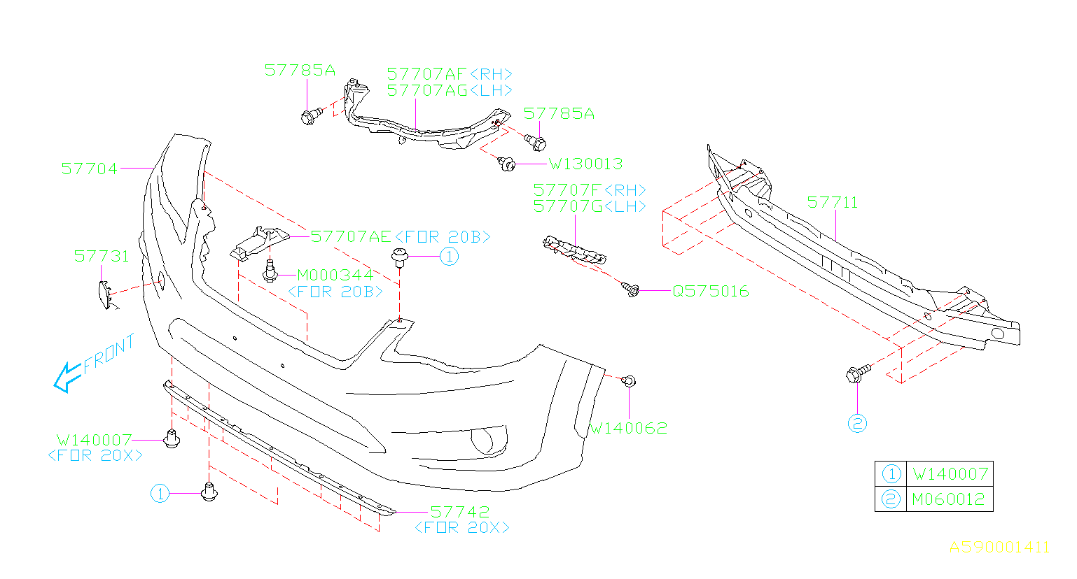 Diagram FRONT BUMPER. '15MY-'15MY. for your Subaru