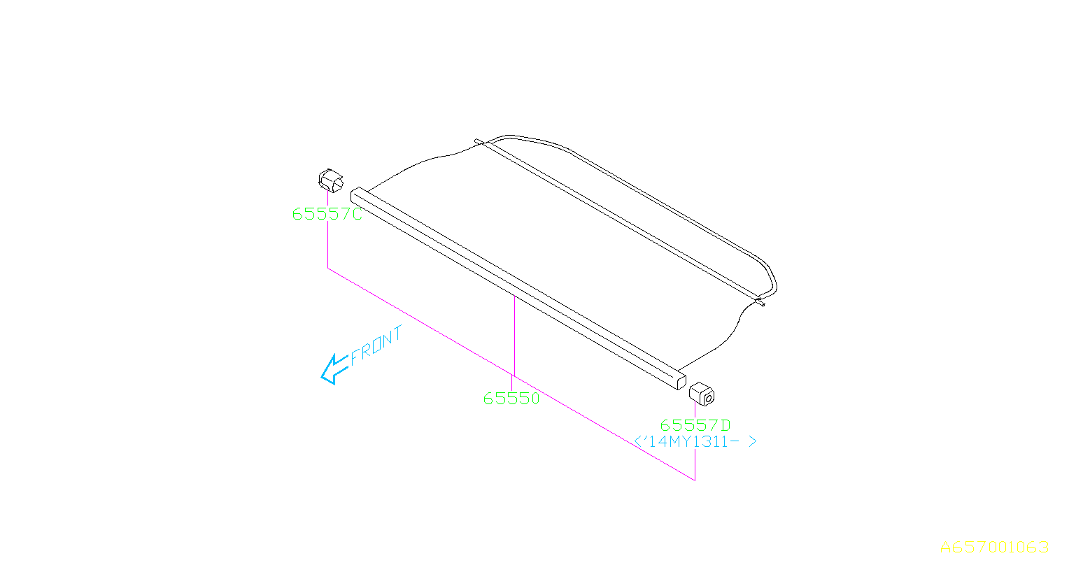 Diagram TONNEAU COVER. for your Subaru