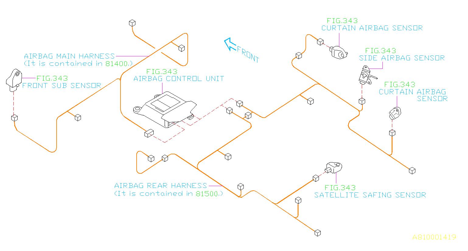 2016 Subaru Crosstrek Wiring Harness   Rear   Main
