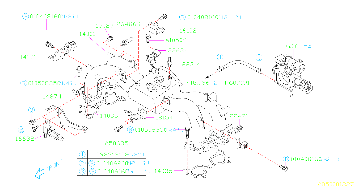 Diagram INTAKE MANIFOLD. for your 2000 Subaru Forester  S