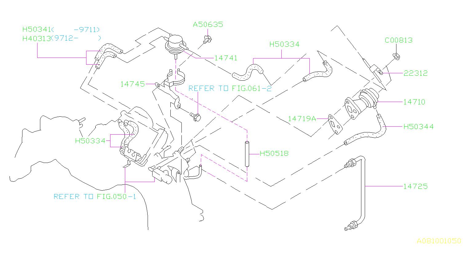14741aa020 - Valve B P T  Back Pressure Valve  Control  Egr  Engine  Emission  Cooling