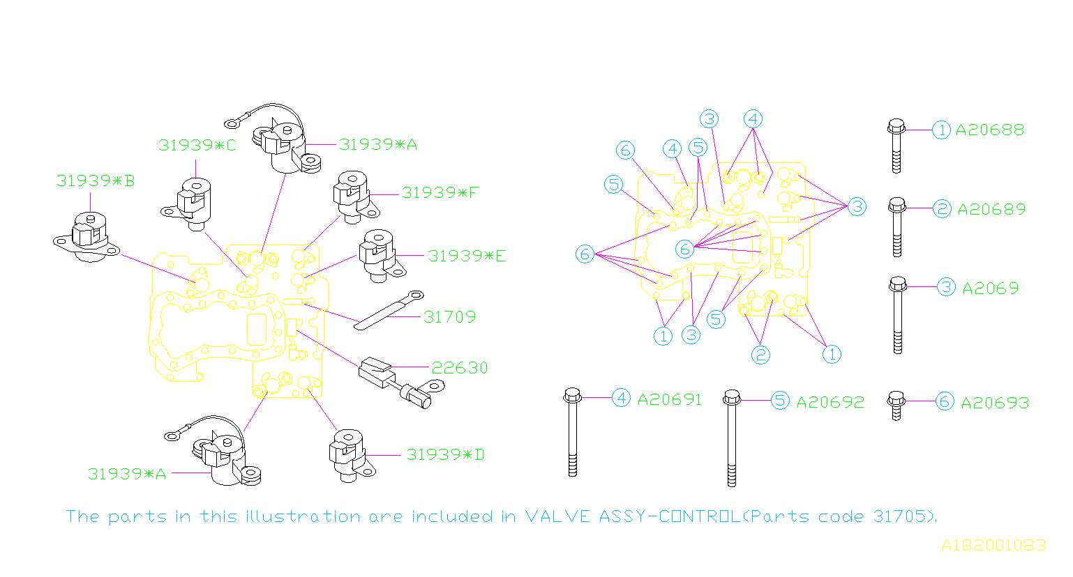 22630aa090 - Temperature Sensor   661608  Control  Valve