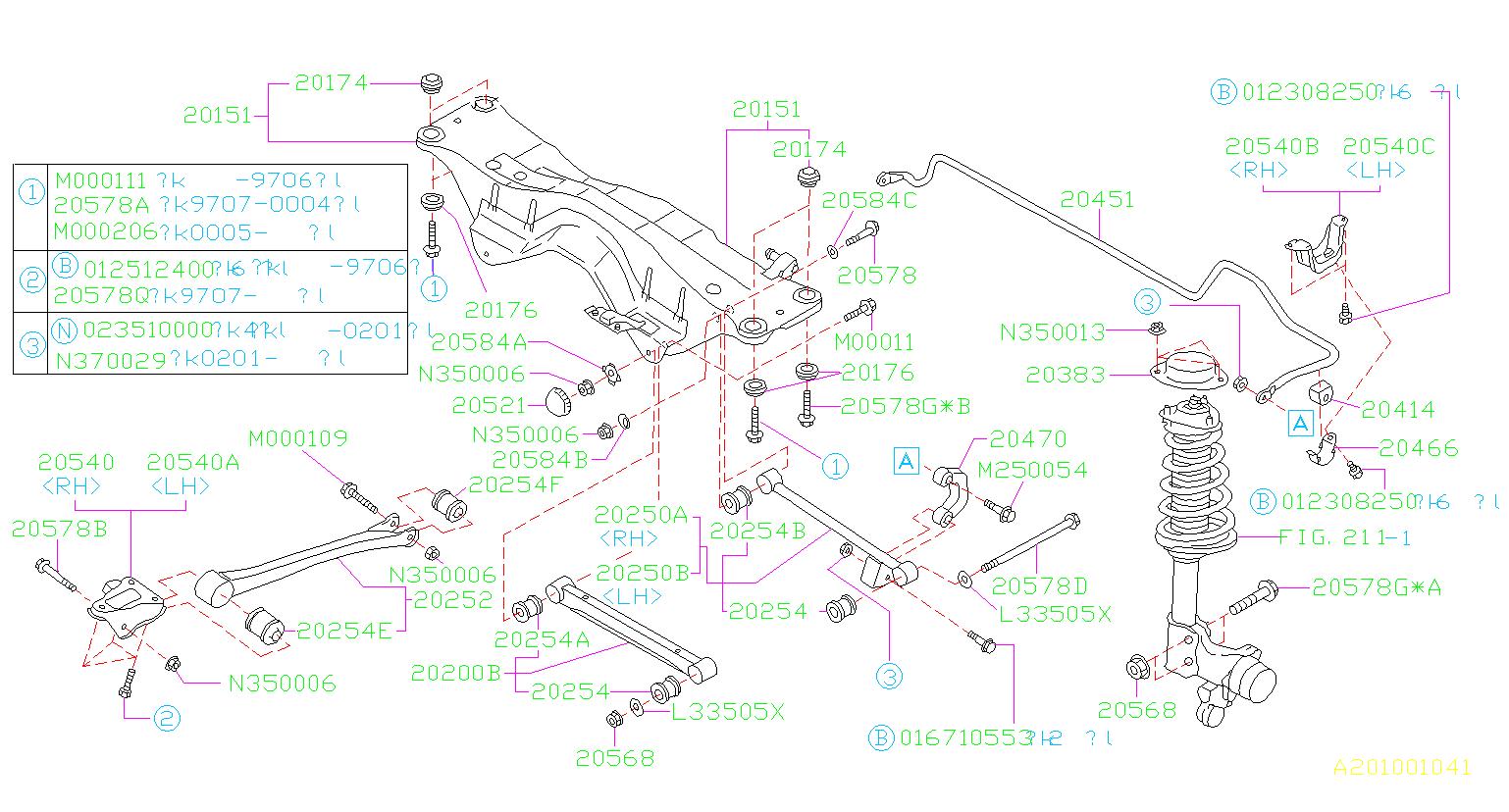 Subaru Forester Suspension Control Arm Bushing