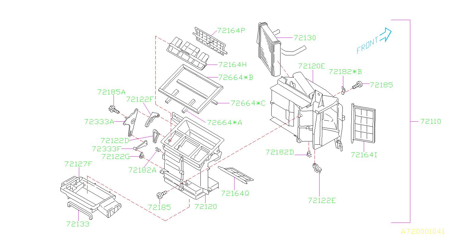 Subaru Forester Hvac Heater Core  System  Make  Unit