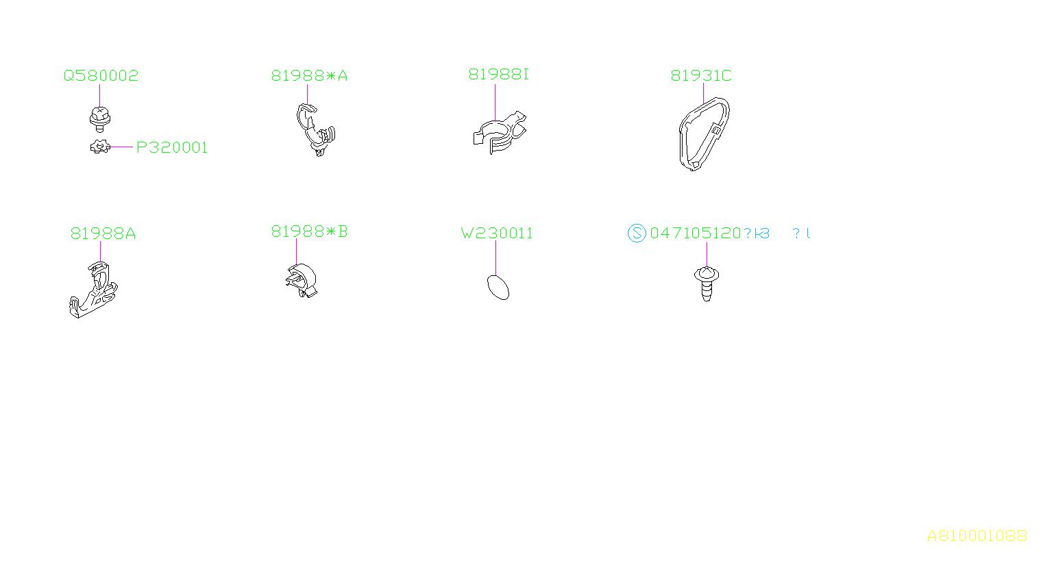 81910aa280 - Clip Alternator  Harness  Wiring  Main  Front