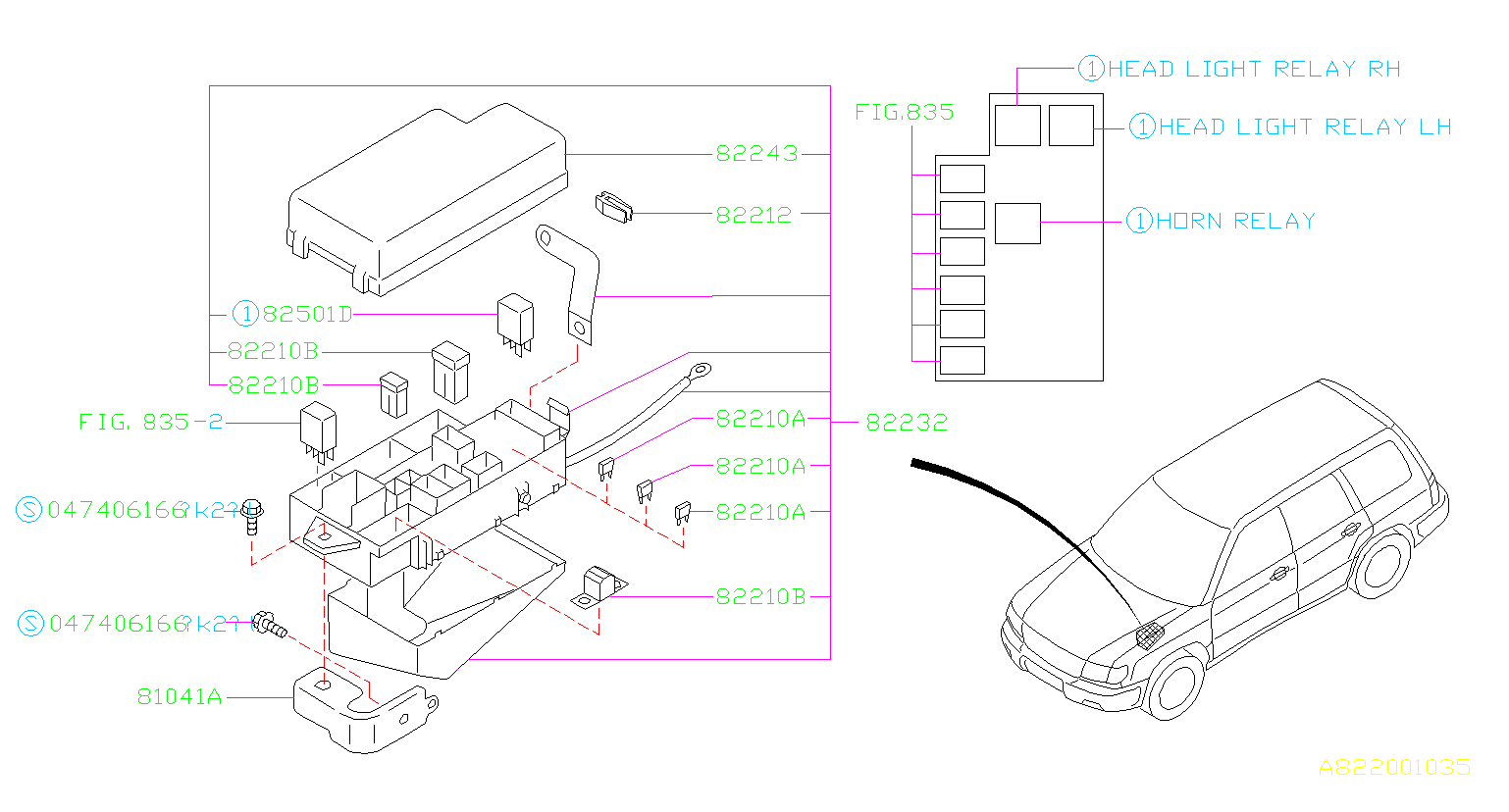 82211fc080 fuse genuine subaru part Subaru Forester AWD Fuse Block Location