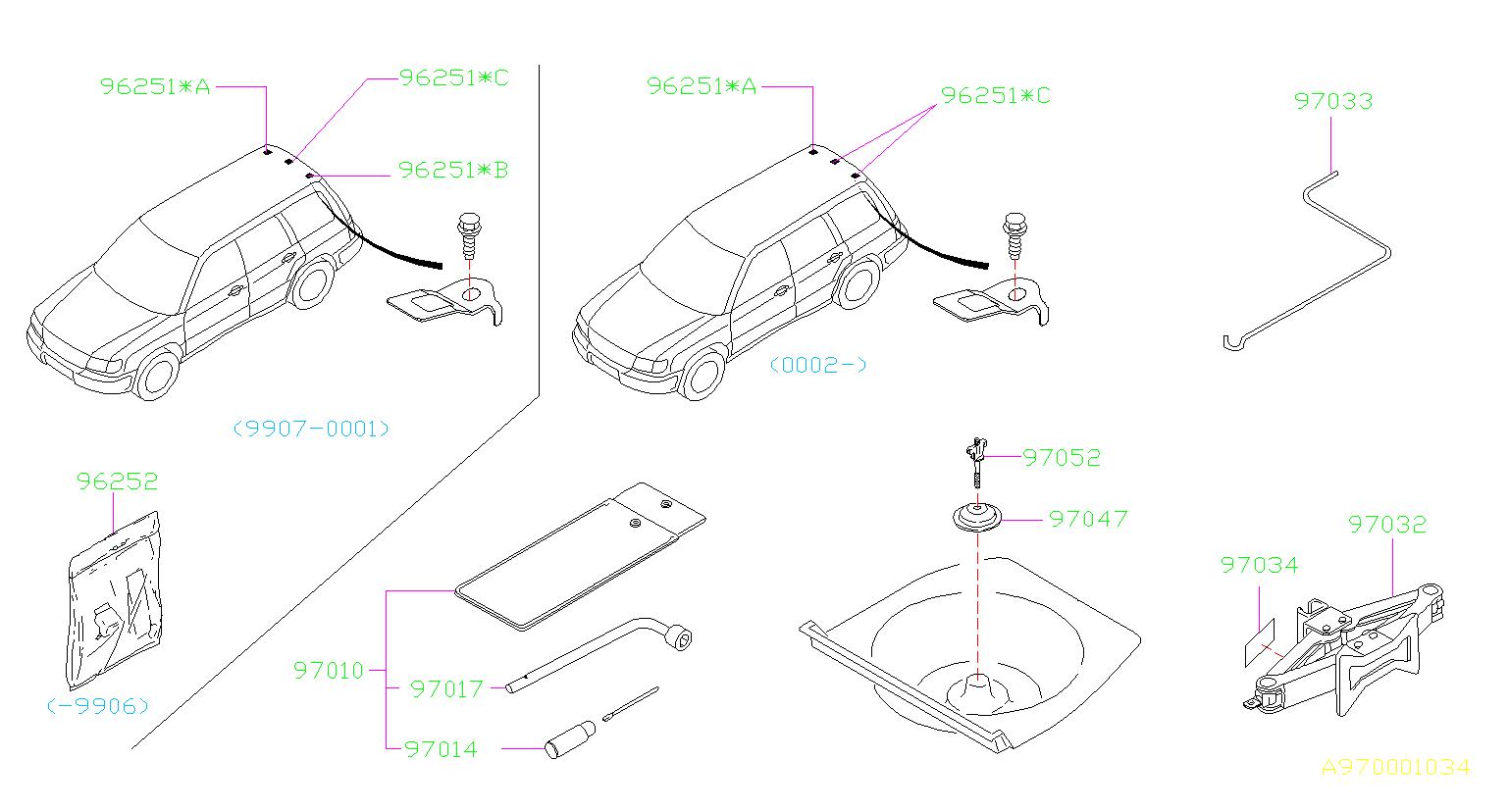 1998 Subaru Forester Multi Purpose Tool Set  Pt341593 Tool