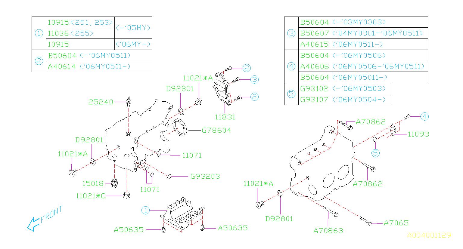 Subaru Forester Baffle Cylinder Block. SYSTEM, Engine ...