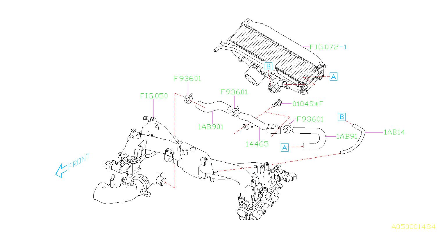 99071ab140 - Hose Vacuum  Intake  Manifold  Pipe
