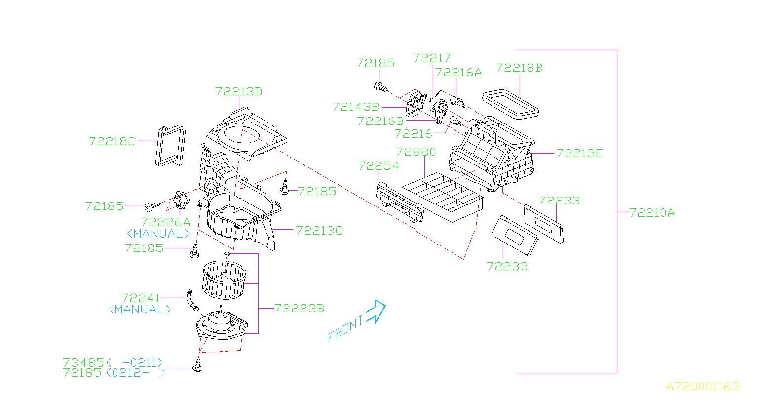 Subaru Forester Motor Blower  Air - 72223sa020