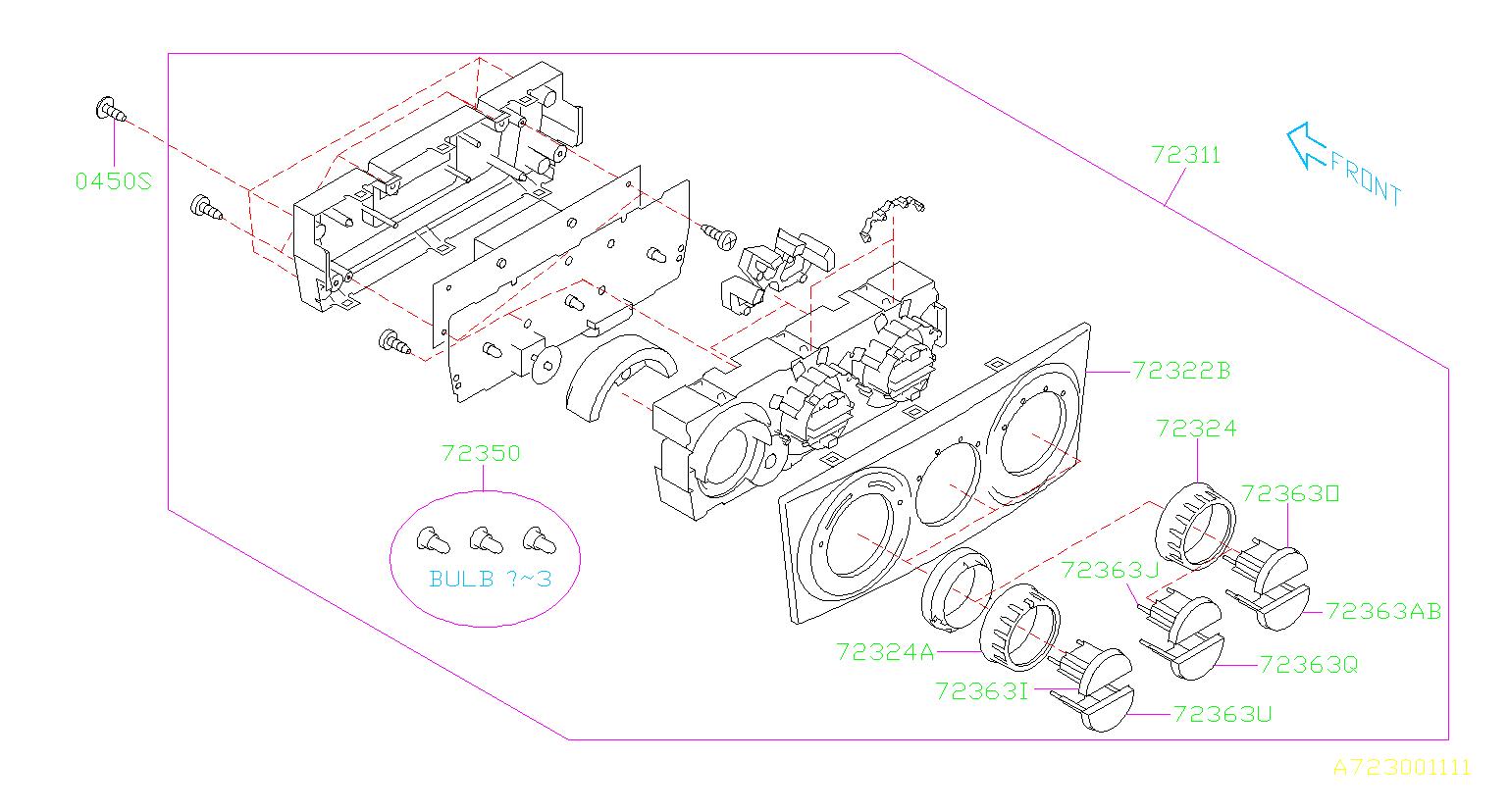 Subaru Forester Control Panel Auto Air Conditioner  Panel