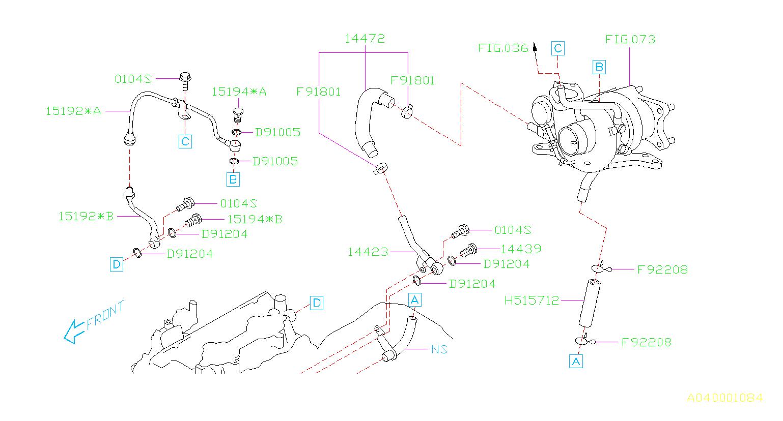 15192aa590 - Turbocharger Oil Line