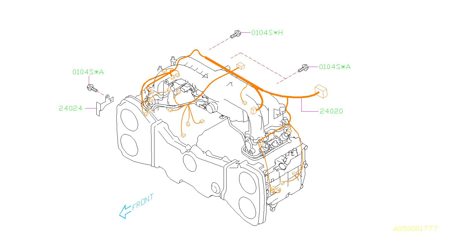 Subaru Forester Engine Control Module Bracket  Manifold  Intake  Harness - 24024aa322