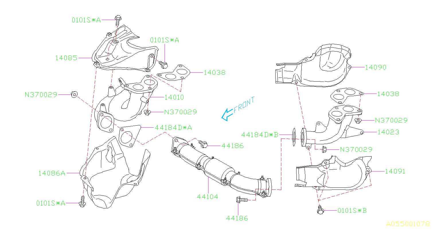 44022aa160 - Catalytic Converter Gasket