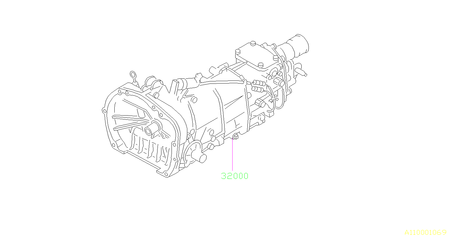2012 Subaru Forester Manual Transmission  Assembly