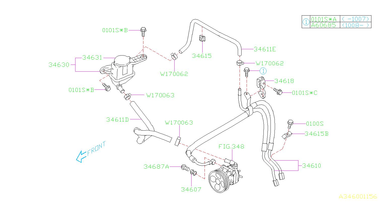 2010 Subaru Forester 2 5l 4at X Premium Power Steering