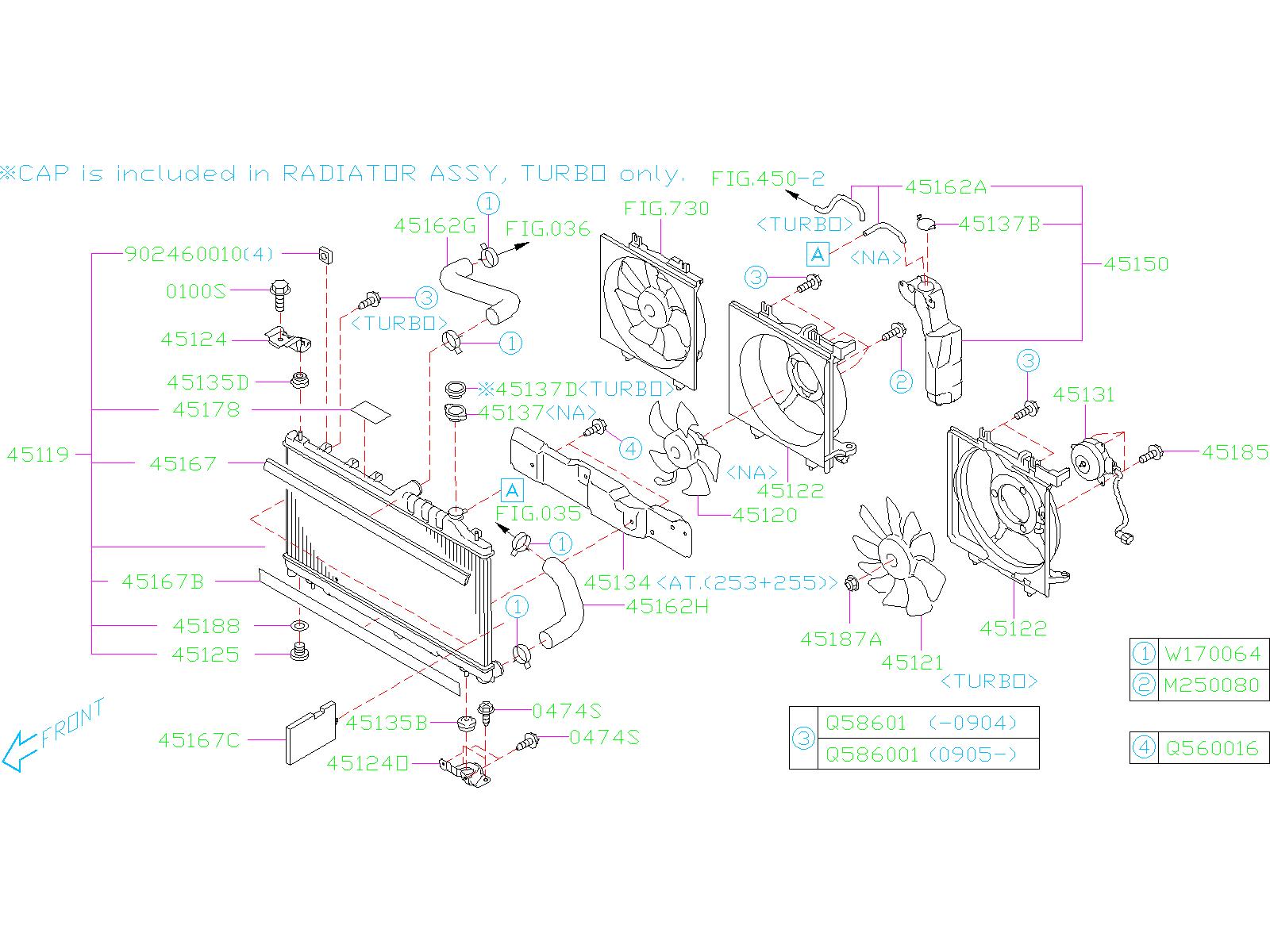 Subaru Forester Radiator  Radiator Complete  Radiator Cp