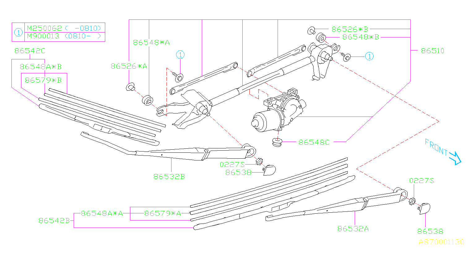 86510sc011 - Motor And Link Windshield Wiper  Make