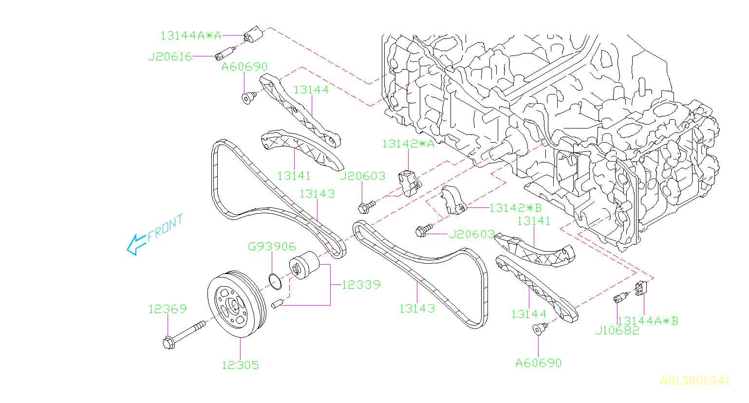 2018 Subaru Forester Engine Timing Chain  Along  Belt